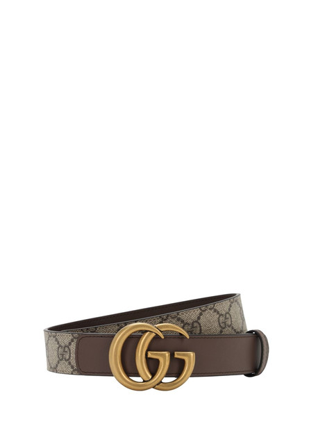 GUCCI 30mm Gg Marmont Supreme Belt in brown