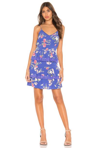Lovers + Friends Teresa Mini Dress in blue