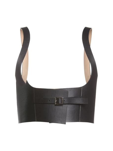 BROCK COLLECTION Leather Bustier Belt in black