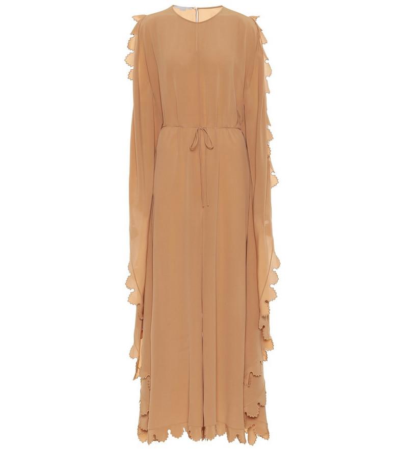 Stella McCartney Bobbi silk crêpe de chine jumpsuit in beige