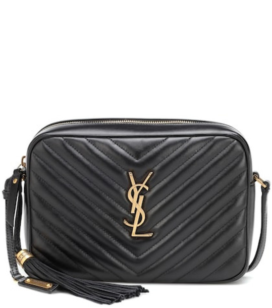 Saint Laurent Lou Camera leather crossbody bag in black