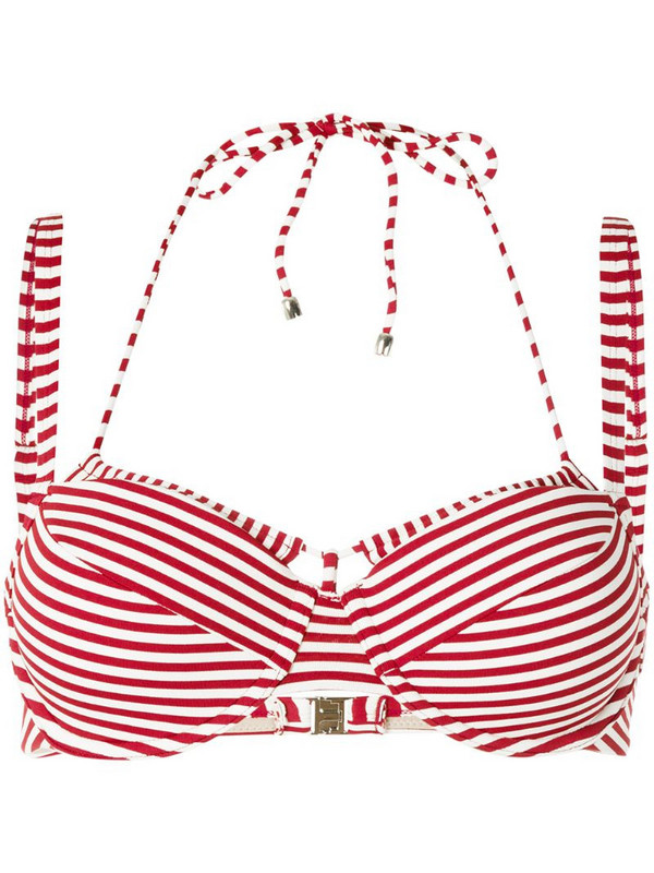 Marlies Dekkers Holi Vintage striped double-strap bikini top in red