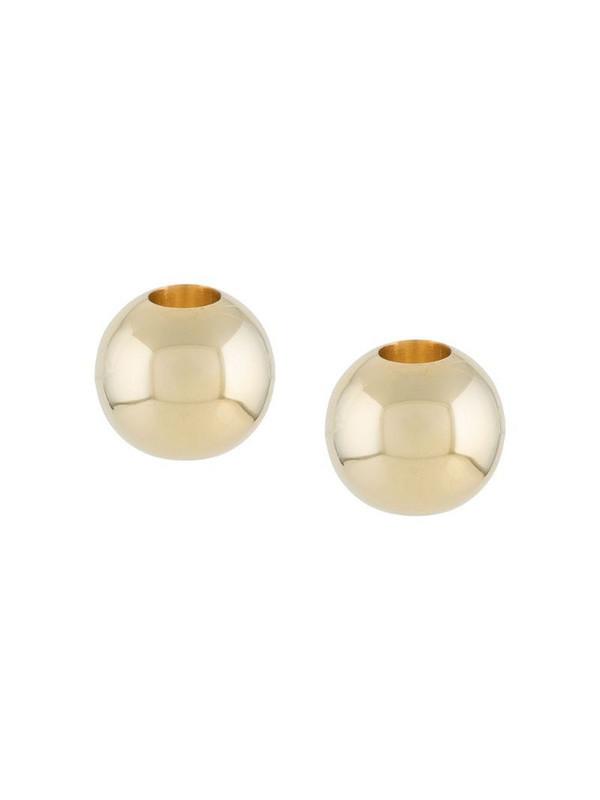d'heygere sphere stud earrings in gold