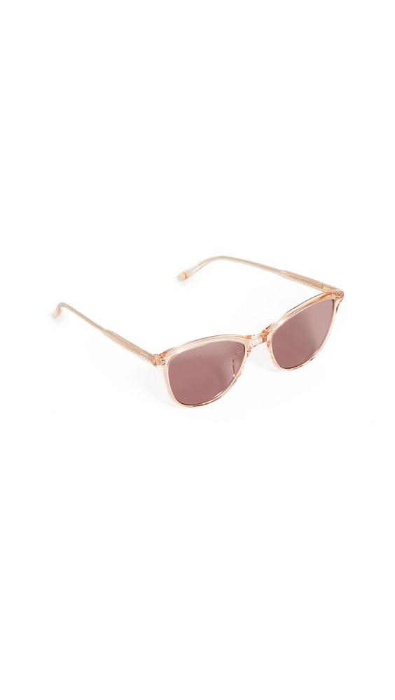 GARRETT LEIGHT Magician Sunglasses in pink / lilac