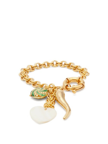 Timeless Pearly - Chilli Charm 24kt Gold-plated Bracelet - Womens - Gold