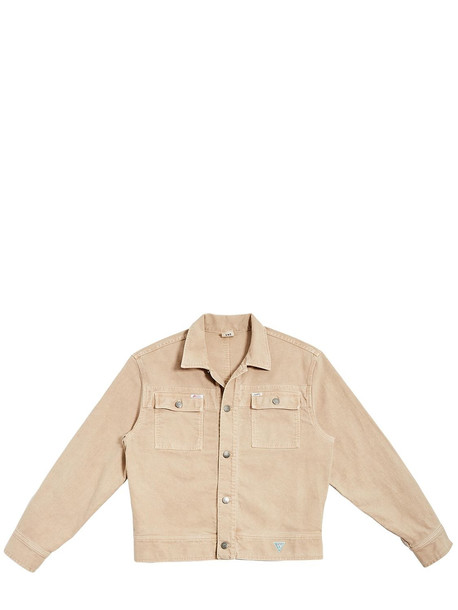 INFINITE ARCHIVES X GUESS JEANS U.S.A. Ia Ls Cotton Worker Jacket in khaki