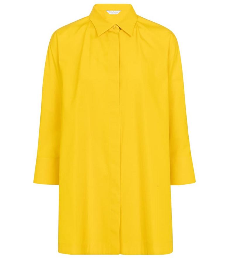 Max Mara Aleggio cotton shirt in yellow