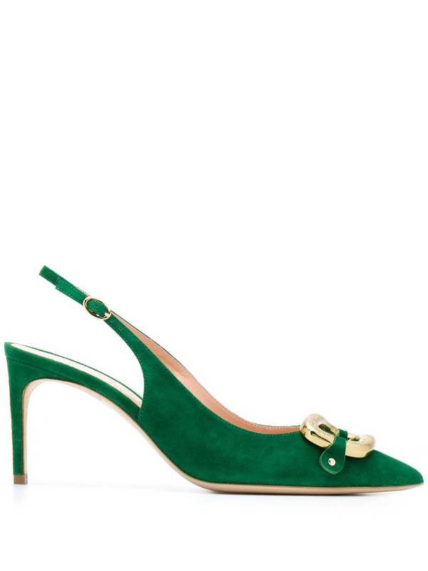 Rupert Sanderson Allen sling-back pumps in green