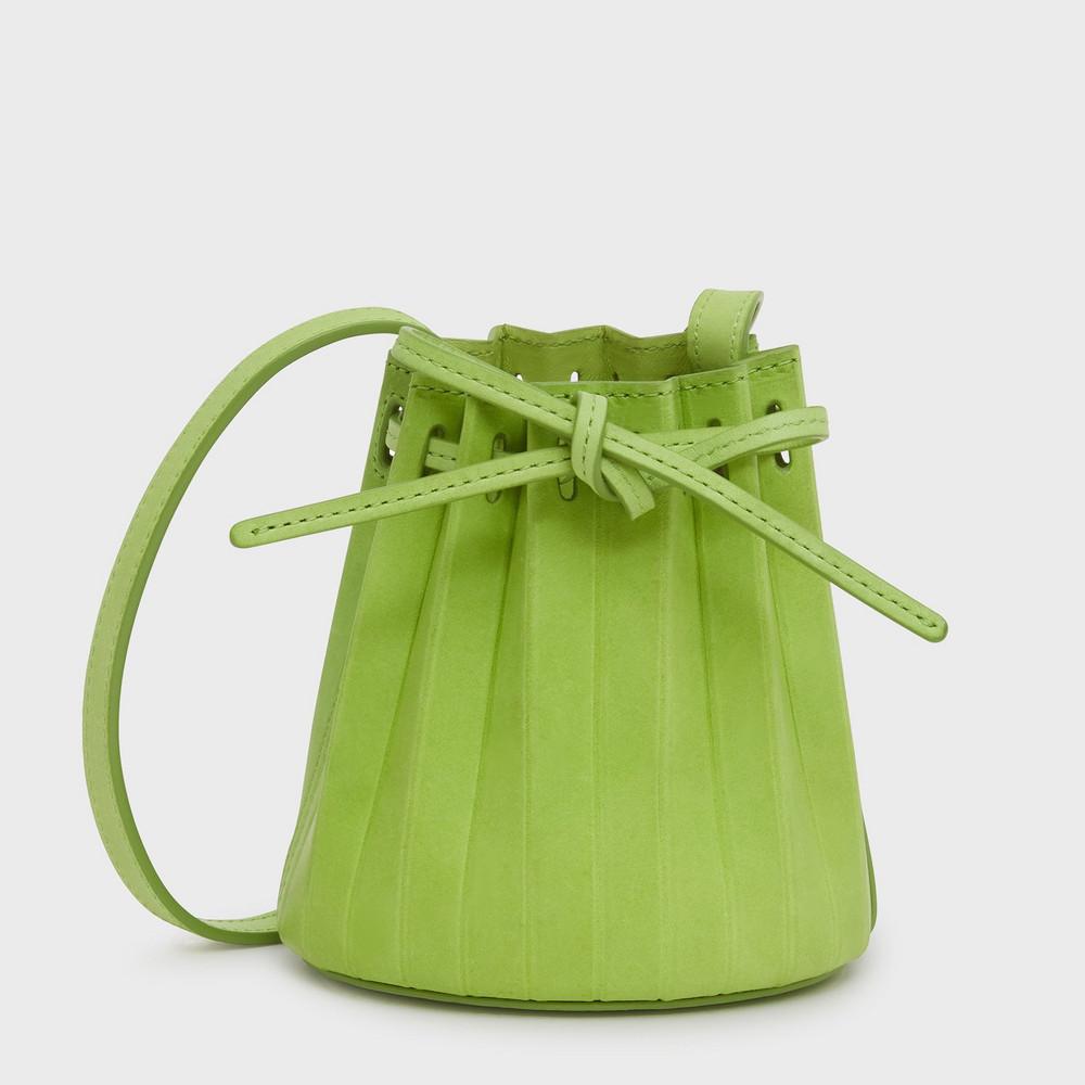 Mansur Gavriel Baby Pleated Bucket Bag - Clorofilla