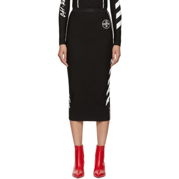 Off-White Black Diag Pencil Skirt