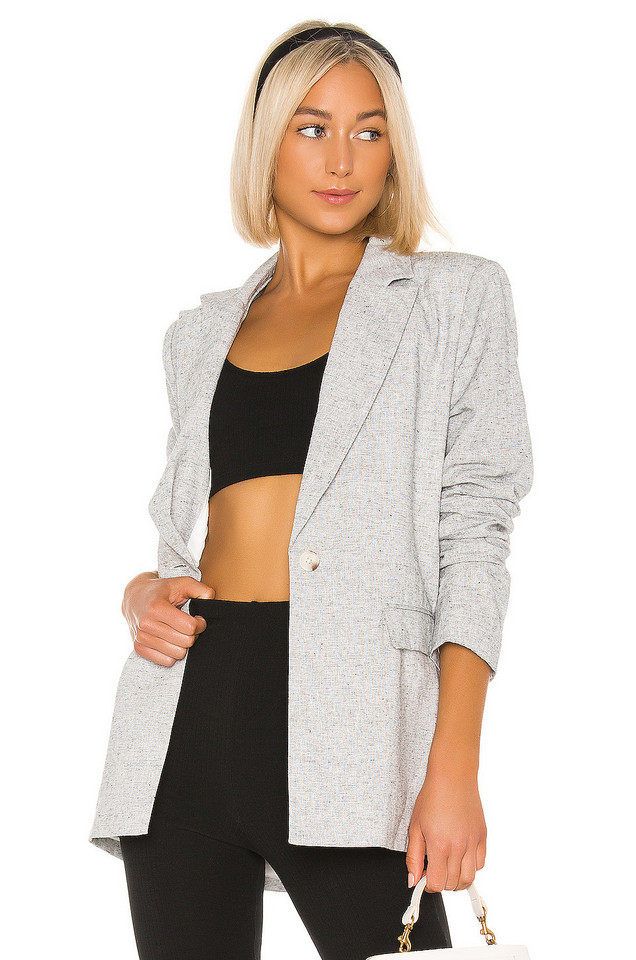 L'Academie The Jeanette Blazer in gray