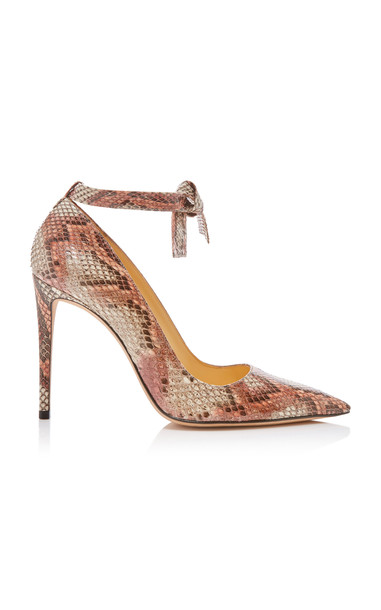 Alexandre Birman Clarita Python Leather Pumps Size: 35 in multi