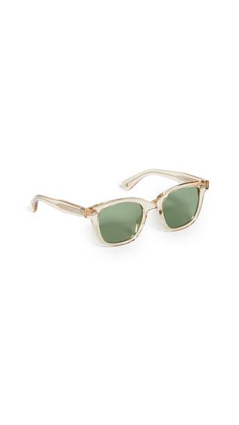 GARRETT LEIGHT Calabar Sunglasses in green