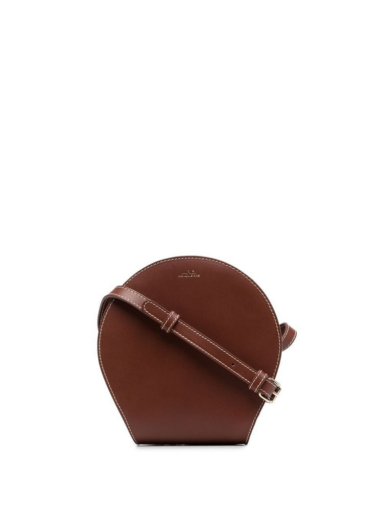 A.P.C. A.P.C. smooth leather cross body bag - Brown