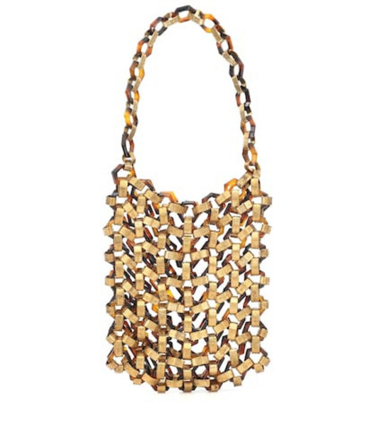 Cult Gaia Mia acrylic and metal tote in gold