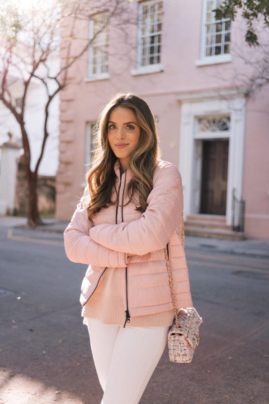 gal meets glam blogger sweater jeans shoes bag