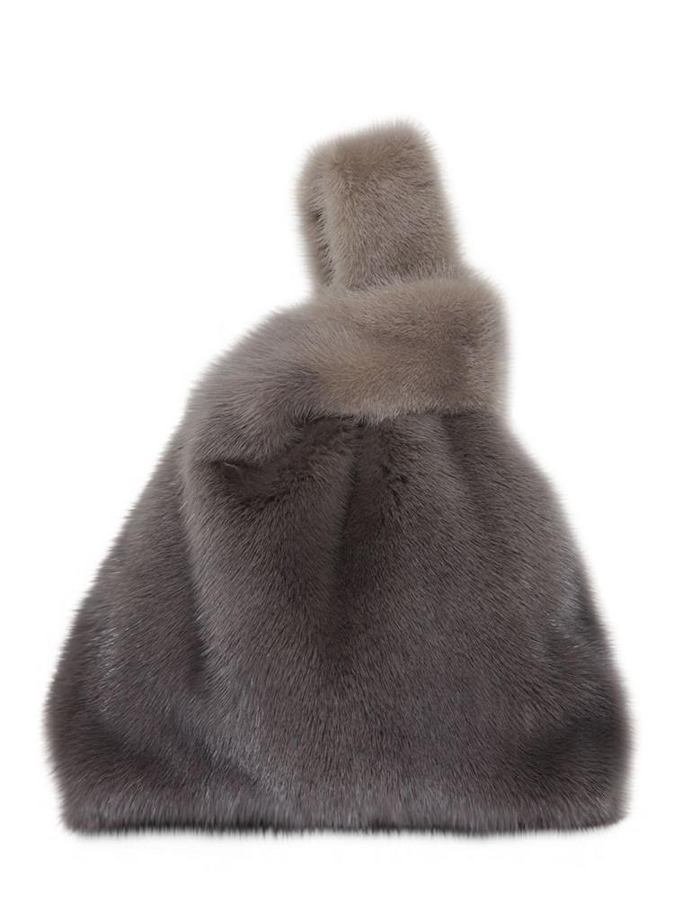SIMONETTA RAVIZZA Furissima Gradient Mink Fur Bag in grey