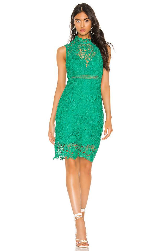 Bardot Eleni Lace Dress in green