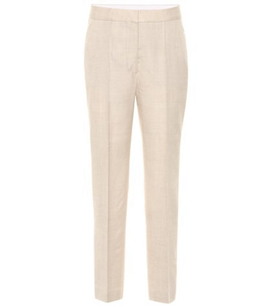 Stella McCartney Cropped linen-blend pants in beige