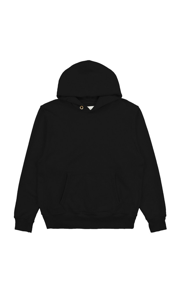 Les Tien Classic Cotton Hooded Sweatshirt in black