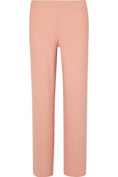 Skin - Kamala Cotton-blend Wide-leg Pants - Antique rose
