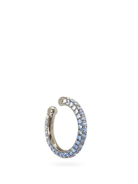 Lynn Ban - Orbital Sapphire & Rhodium Plated Ear Cuff - Womens - Blue