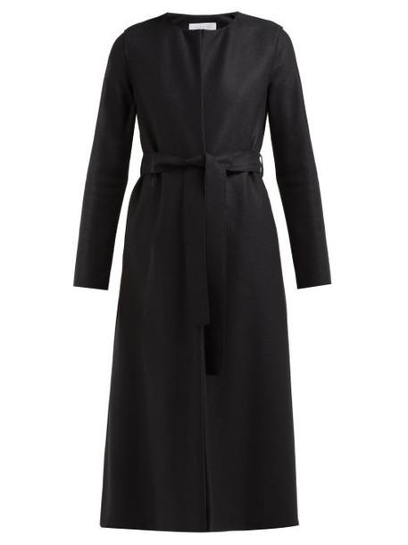 Harris Wharf London - Collarless Belted Wool Felt Coat - Womens - Black