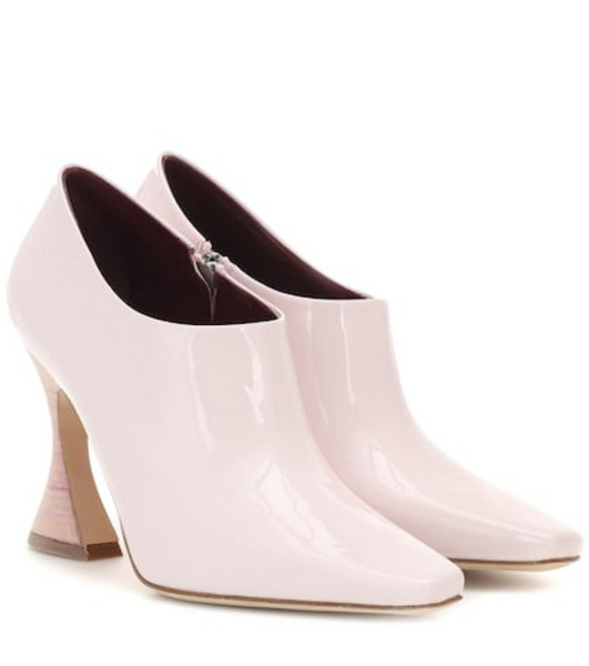 Sies Marjan Drea patent leather ankle boots in pink