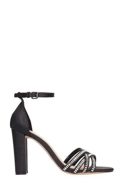 Bibi Lou Black Canvas Sandals