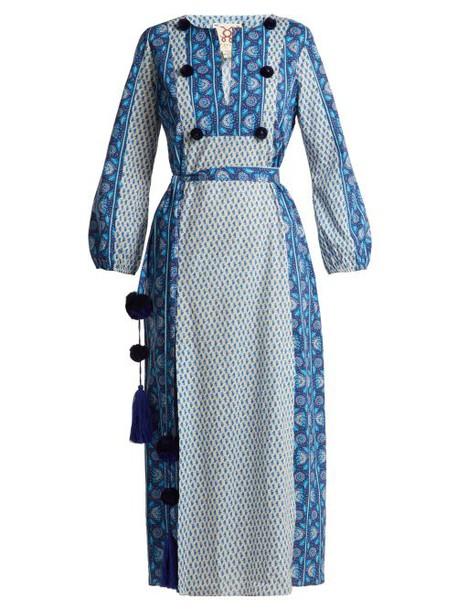 Figue - Ravenna Cotton Maxi Dress - Womens - Blue Stripe