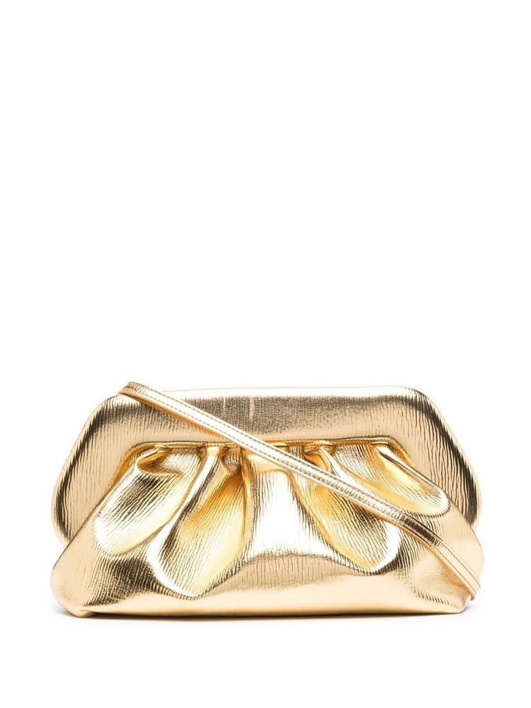 Themoirè Themoirè gathered clutch bag - Gold