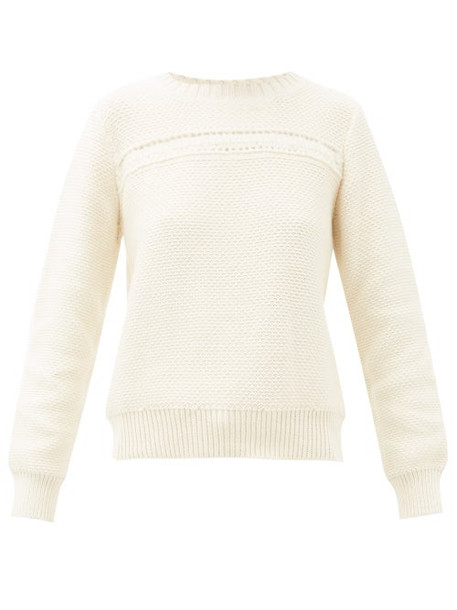 A.P.C. A.p.c. - Colombe Cotton-blend Sweater - Womens - Ivory