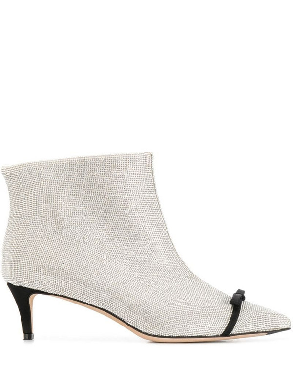 Marco De Vincenzo studded ankle boots in silver