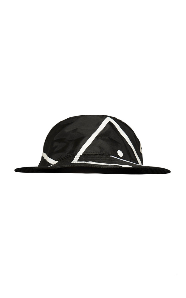 Acne Studios Printed Nylon Hat in black