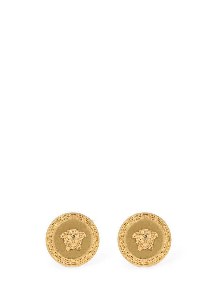 VERSACE Medusa Coin Stud Earrings in gold