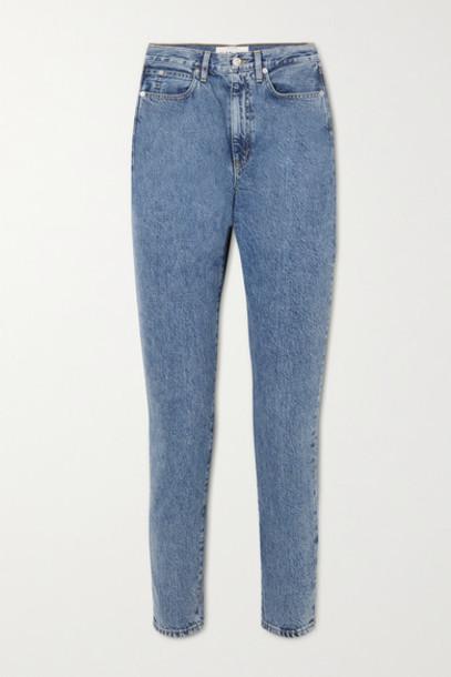 SLVRLAKE - Beatnik Cropped High-rise Slim-leg Jeans - Mid denim
