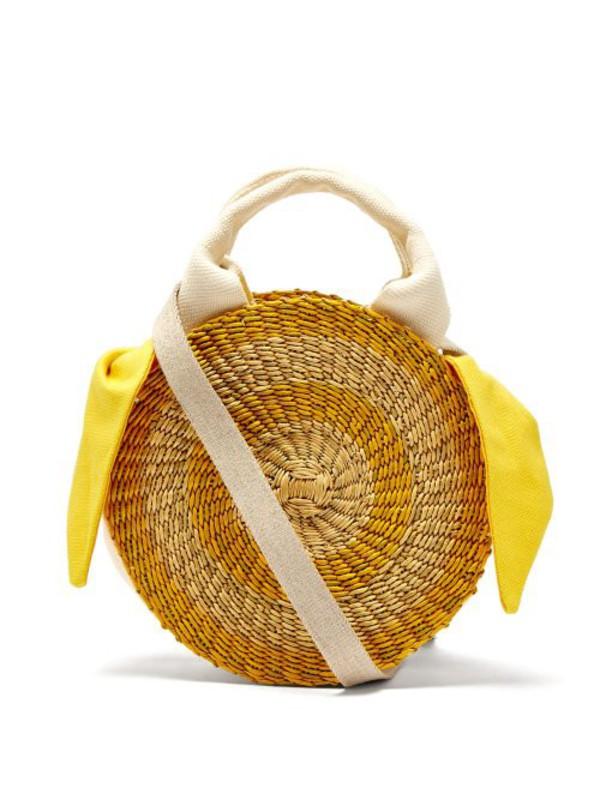 Muuñ Muuñ - Rosa Straw Bag - Womens - Yellow Multi