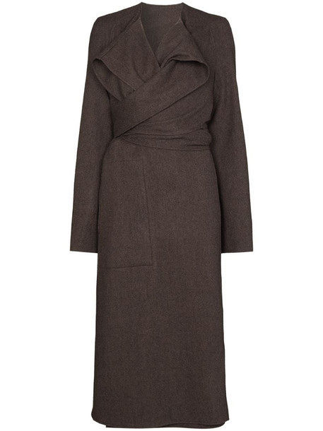 Lemaire Coa wrap coat in grey