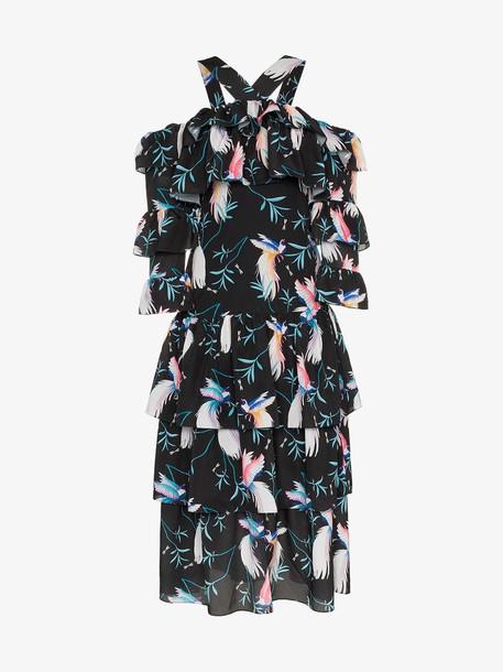 Borgo De Nor sandra tiered floral maxi dress in black