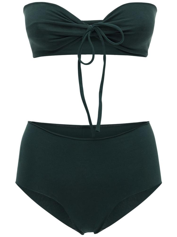 ISOLE & VULCANI Seamless Cotton Jersey Bikini in green
