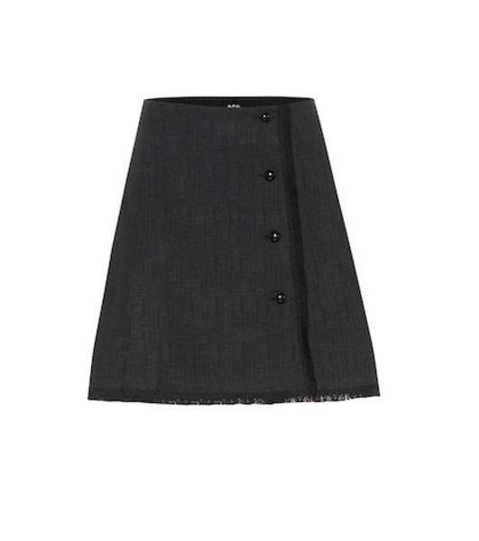 A.P.C. Frida tweed miniskirt in black