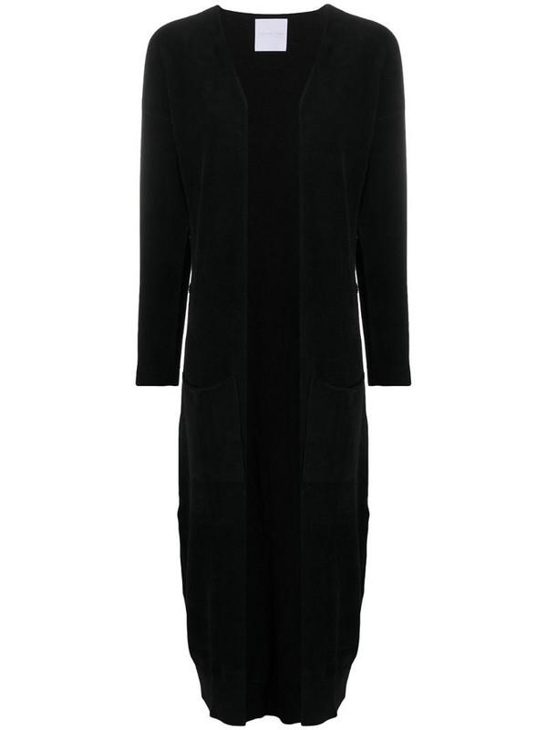 Antonella Rizza velvet cardi-coat in black