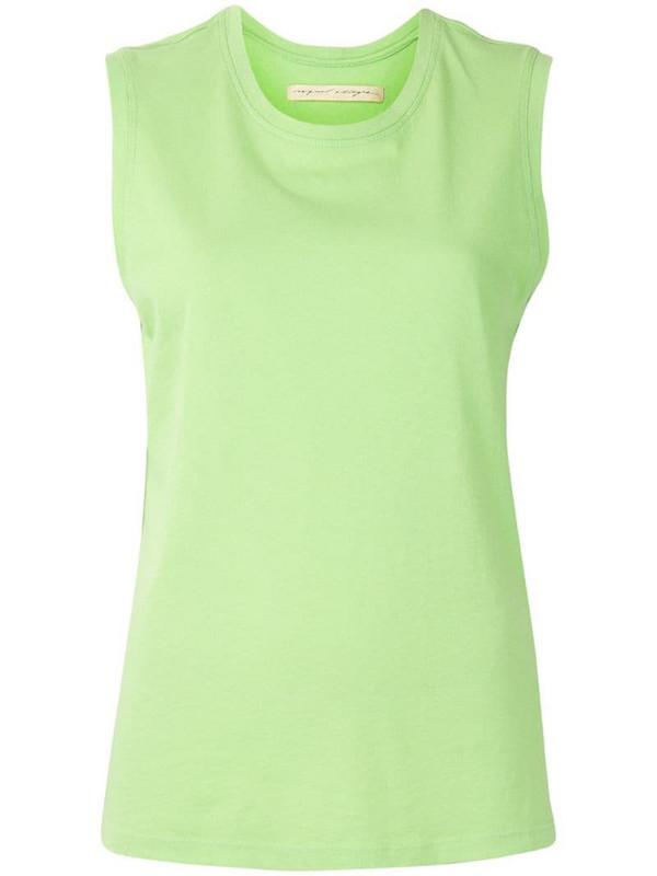 Raquel Allegra round neck tank top in green