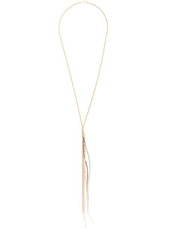 Forte Forte long fringe necklace in gold