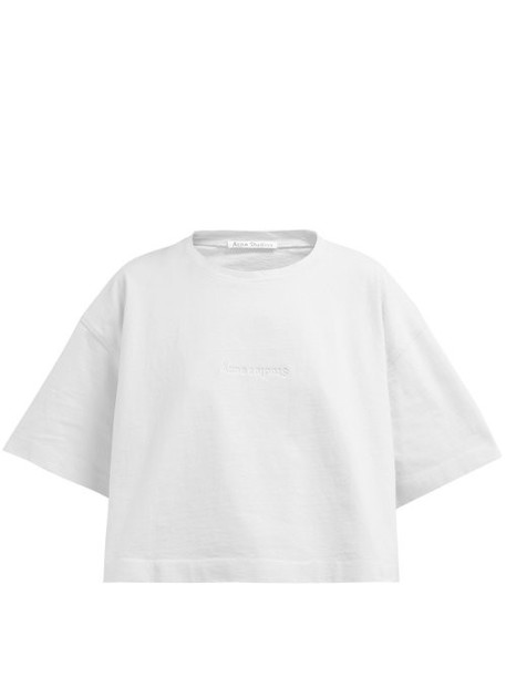Acne Studios - Cylea Logo Cotton T Shirt - Womens - White