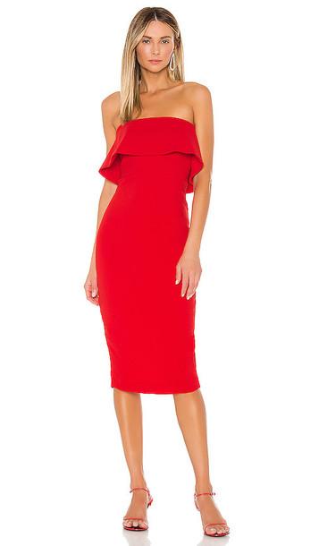 NBD Astro Midi Dress in Red