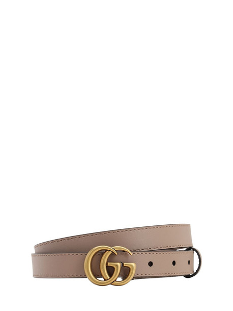 GUCCI 20mm Gg Marmont Leather Belt in pink