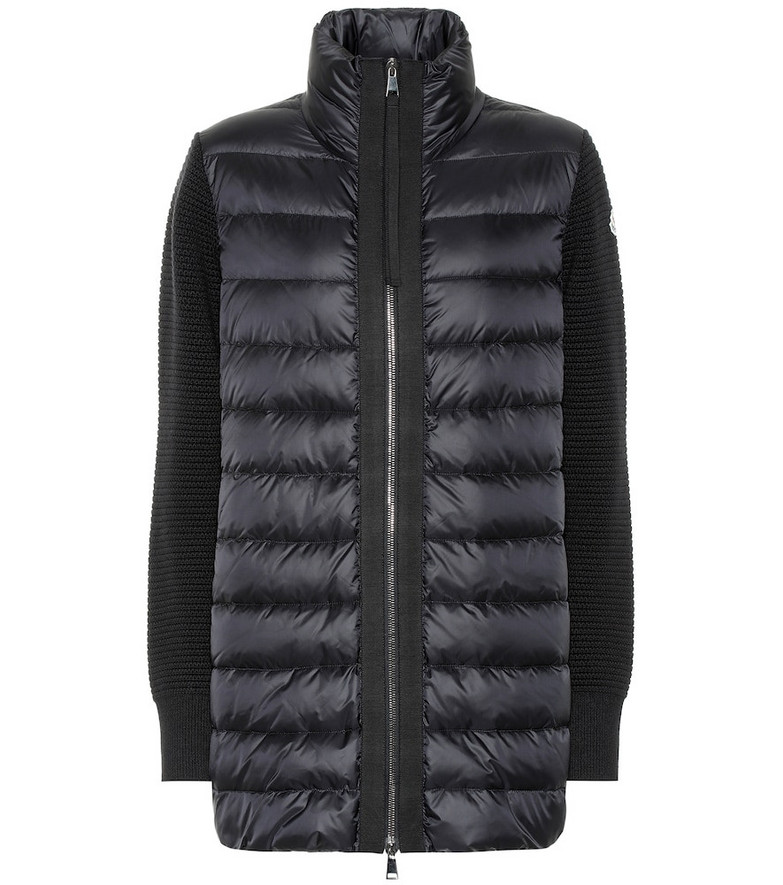 Moncler Wool and down jacket in black