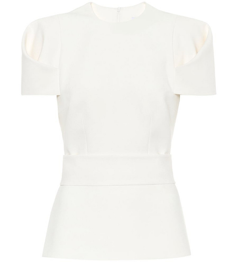 Safiyaa Stretch-crêpe top in white