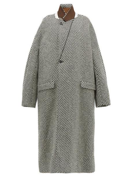 Haider Ackermann - Chapman Herringbone Wool Coat - Womens - Black White